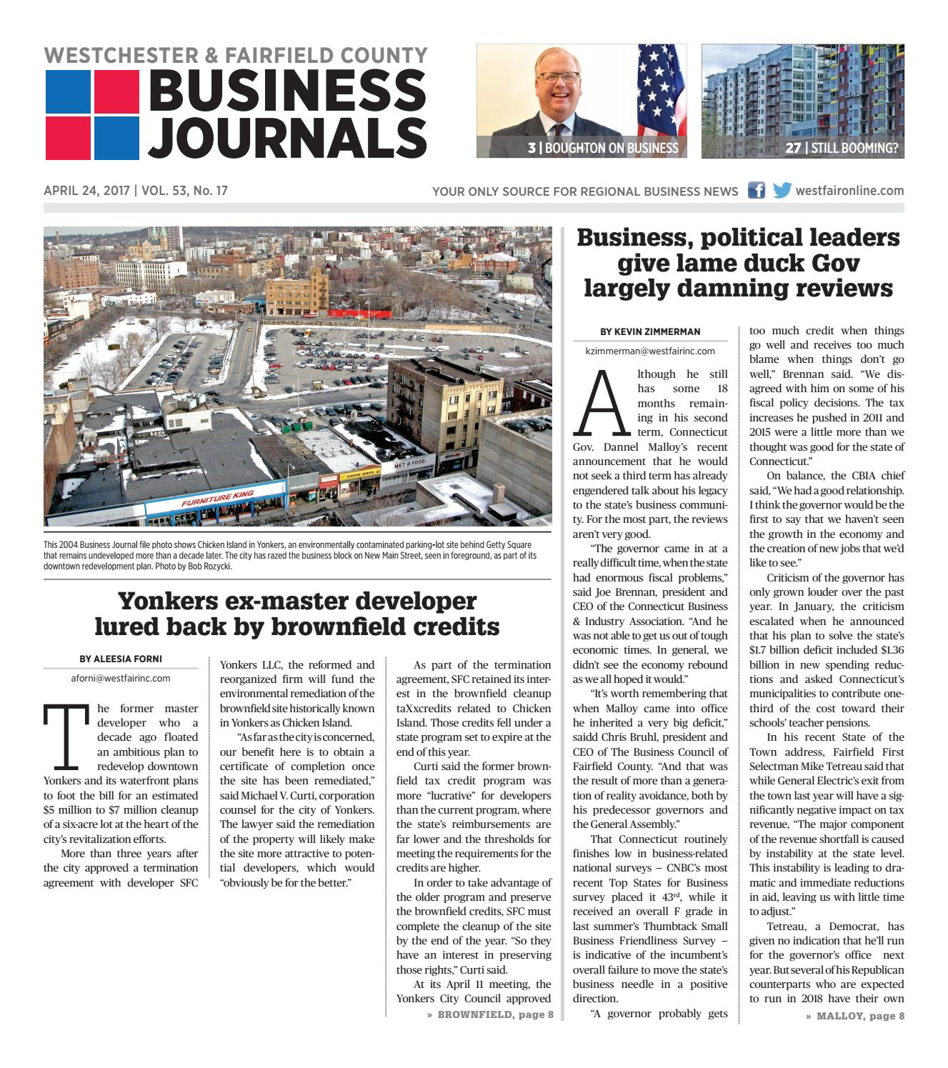 Westchester and Fairfield County Business Journals by Wag