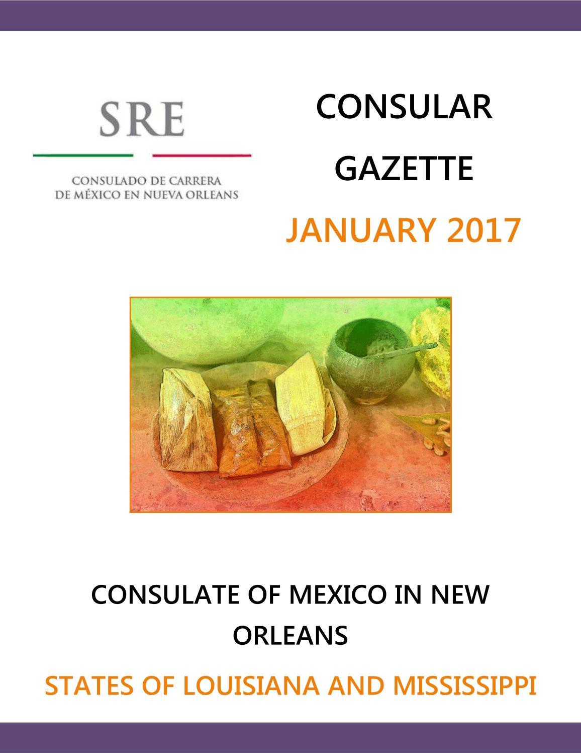 Consular Gazette January 2017 by Consulado de México en Nueva