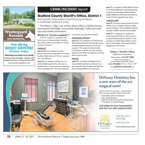 Northwest Observer | April 21 - 27, 2017 by pscommunications