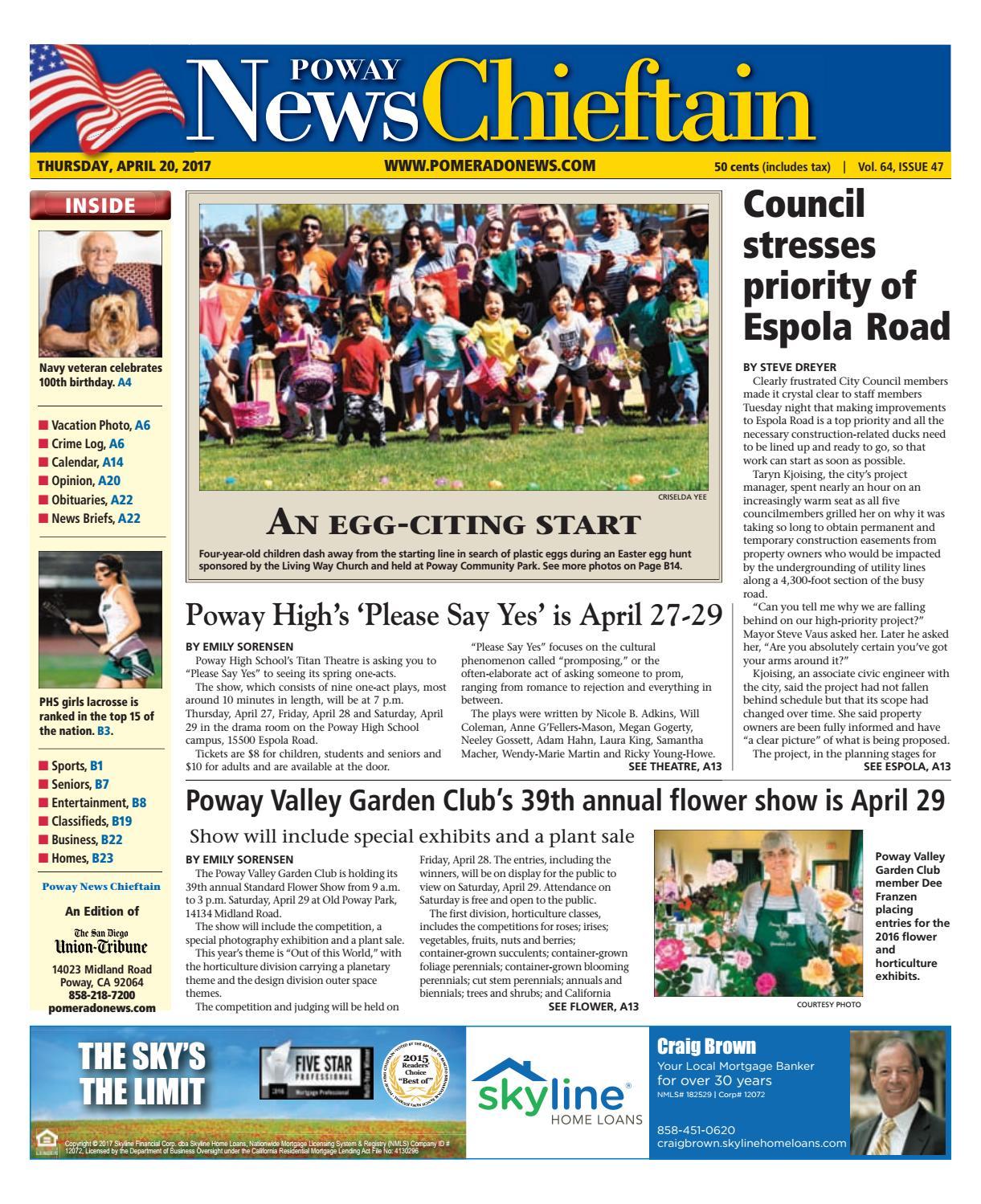 Poway News Chieftain 04 20 17 By MainStreet Media   Issuu