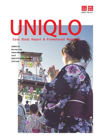 aa2ec07e7bb65 UNIQLO: Case Study Report & Promotional Materials by Jennifer Feng ...