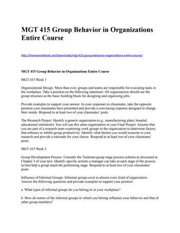 types of informal groups in organization
