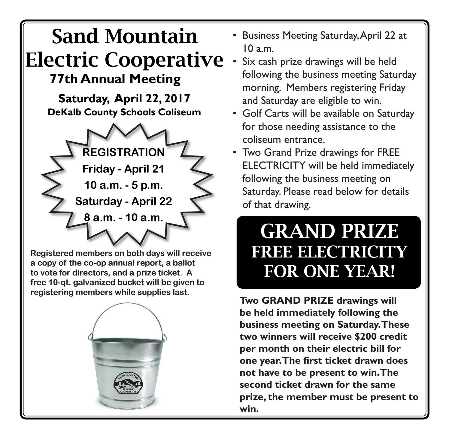 2017 April Sand Mountain Electric Cooperative Annual Meeting