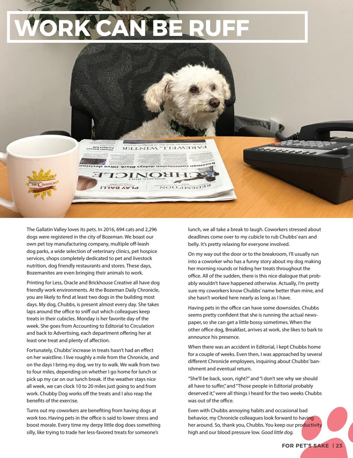 For Pet's Sake | 2017 by Bozeman Daily Chronicle - issuu