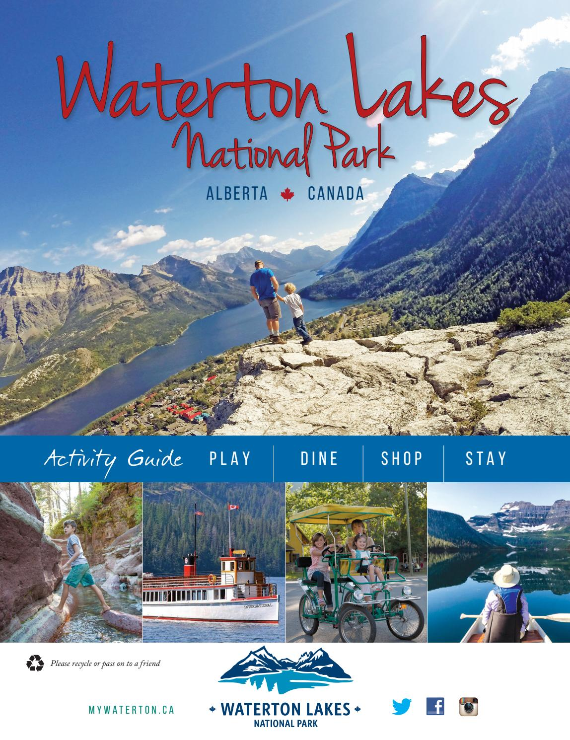 Banff national park vacations 2017 package amp save up to 603 cheap - 2017 Waterton Lakes National Park Activity Guide By Jaci Zalesak Issuu