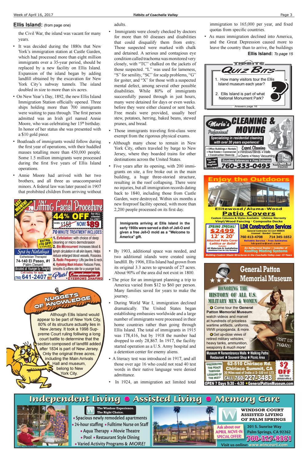 Vol  13: #16 • Ellis Island • (4/16/17) Tidbits of Coachella