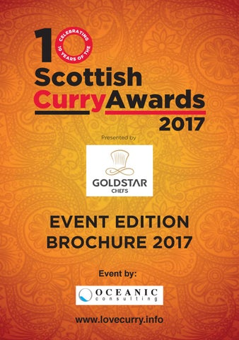 Scottish Curry Awards Event Edition Brochure 2017 By