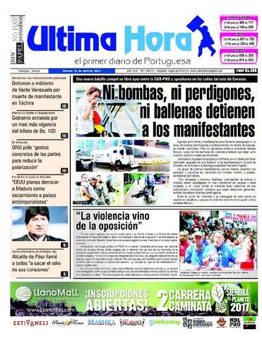 Edición 21 04 2017 by Ultima Hora - El primer diario de Portuguesa ...