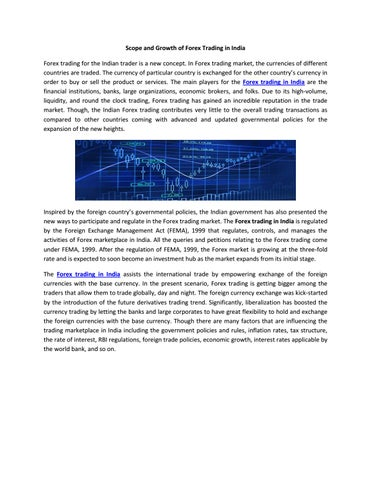 Forex market size in india
