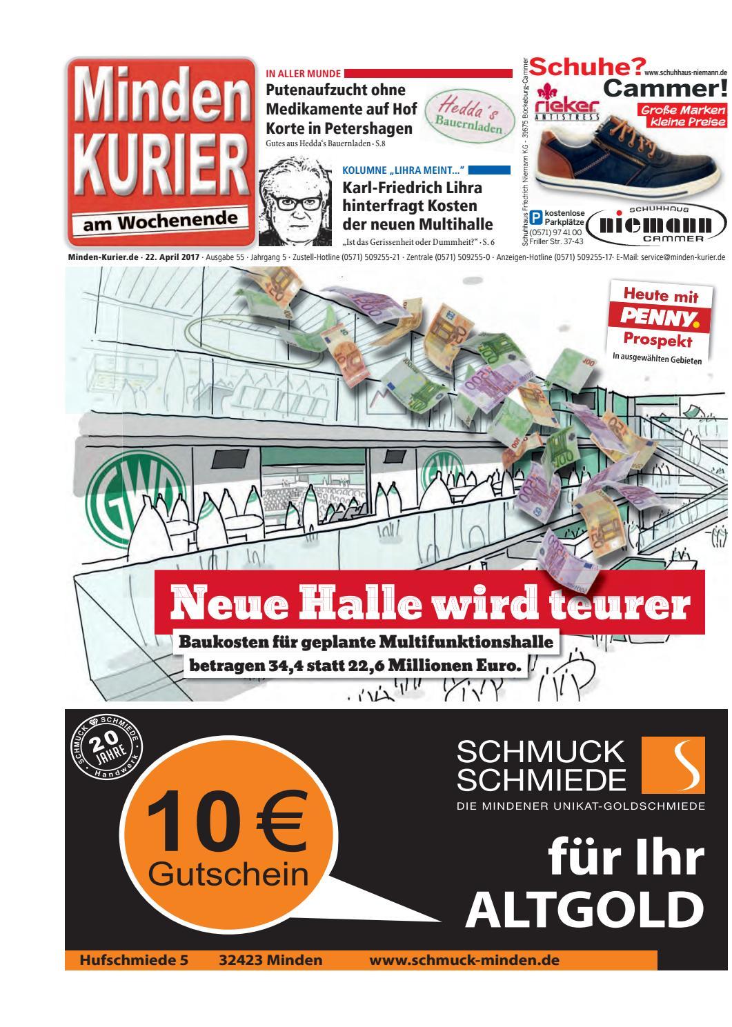 22. April 2017 - Neue Halle wird teurer by Minden Kurier - issuu