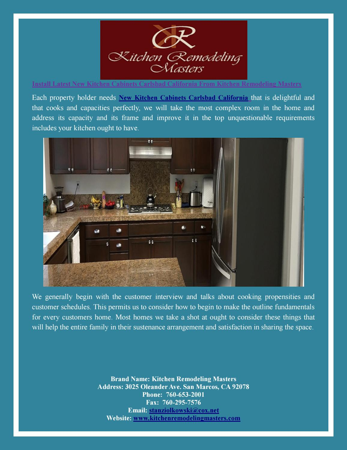 Install Latest New Kitchen Cabinets Carlsbad California From