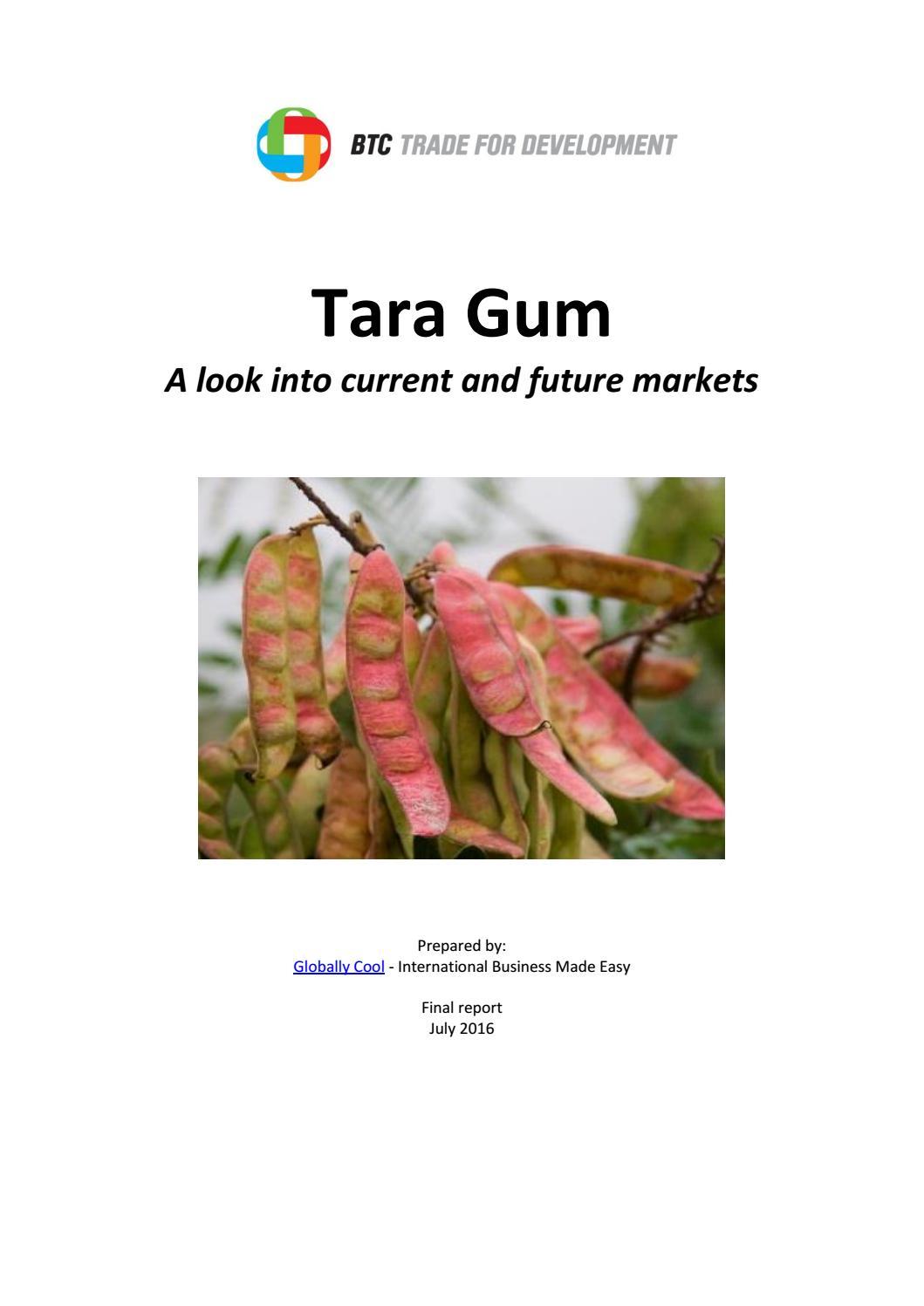 Market study tara gum (english) by Trade for Development