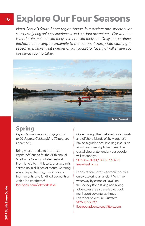 Nova Scotia's South Shore Guide 2017 by Metro Guide