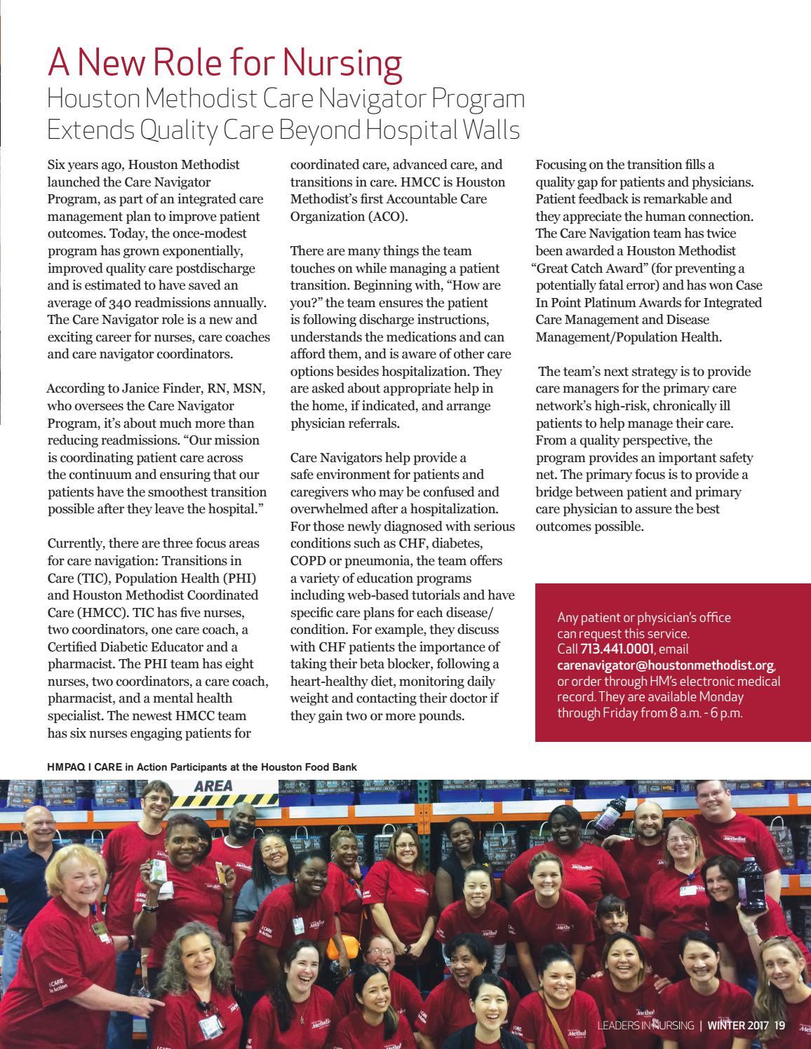 Houston Methodist Nursing Magazine Winter 2017 by Houston