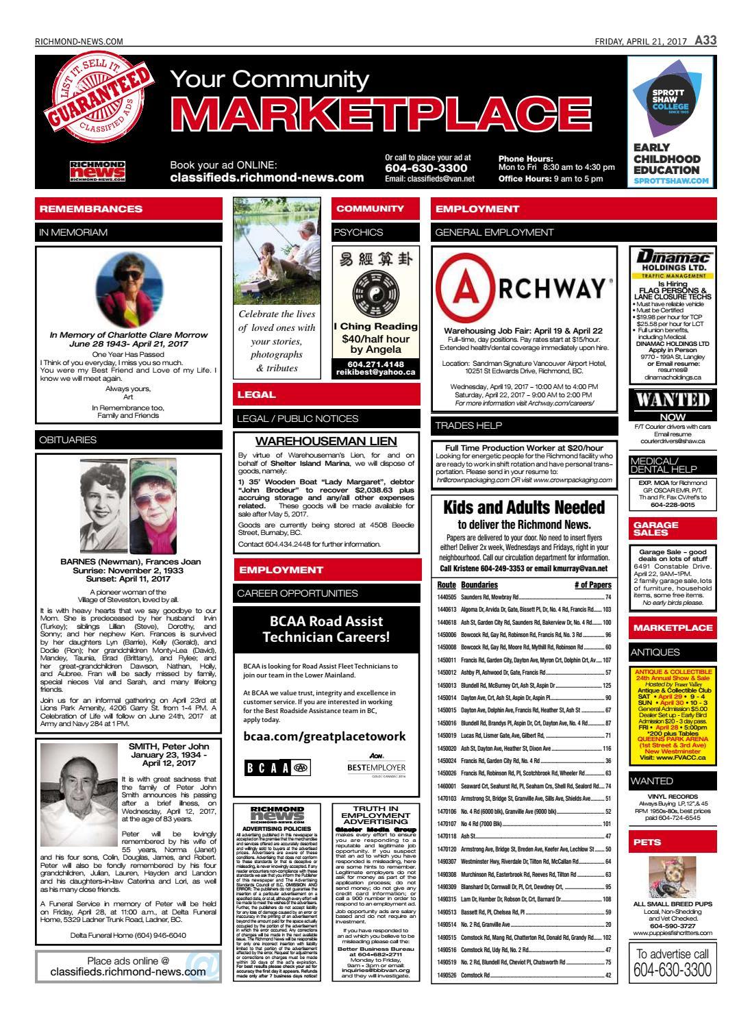Richmond News April 21 2017 by Richmond News - issuu