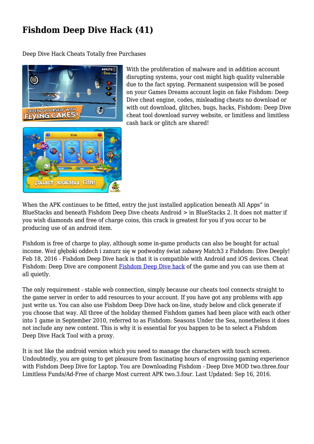 Fishdom Deep Dive Hack (41)    by daughertyvjirlaozuw - issuu