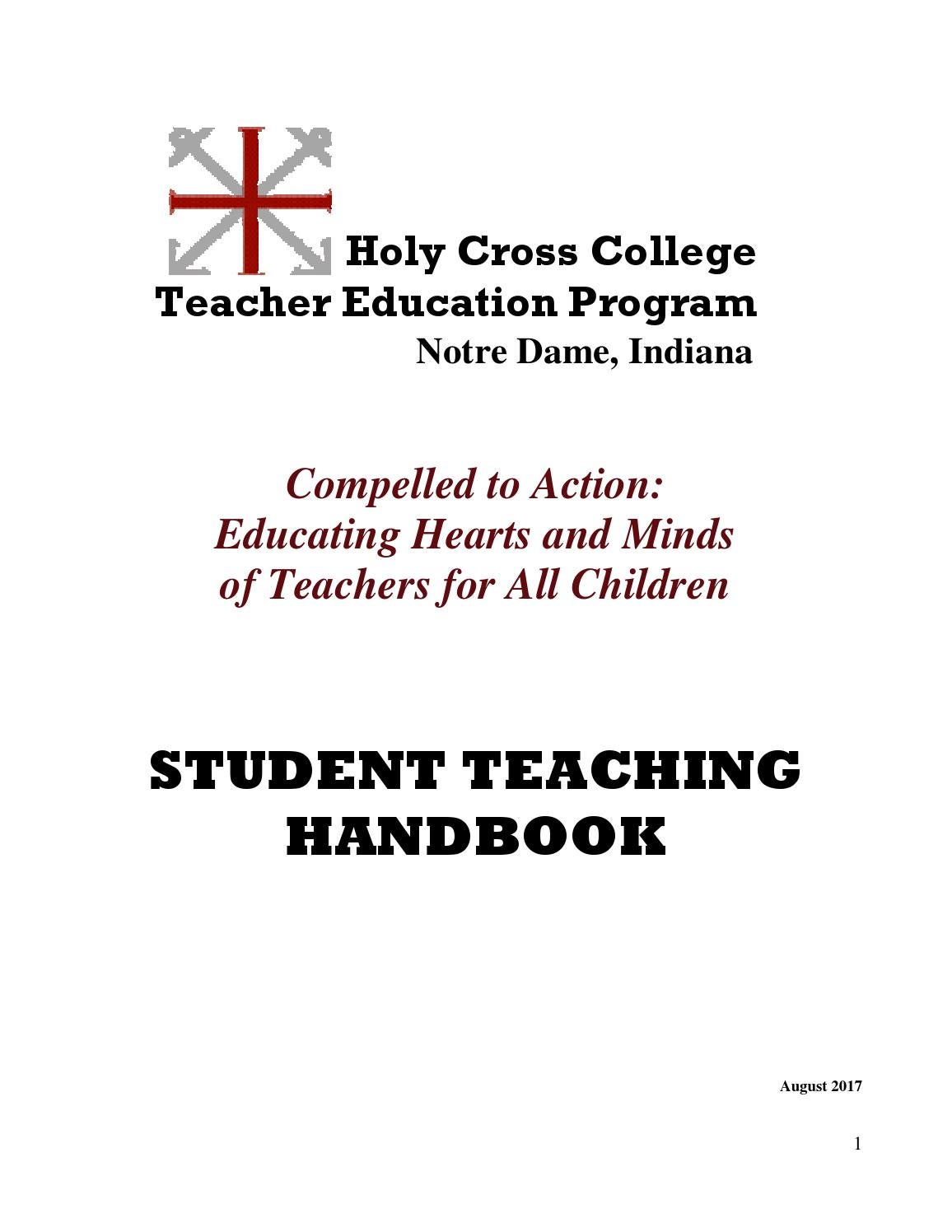 Student Teaching Handbook by Holy Cross College - issuu