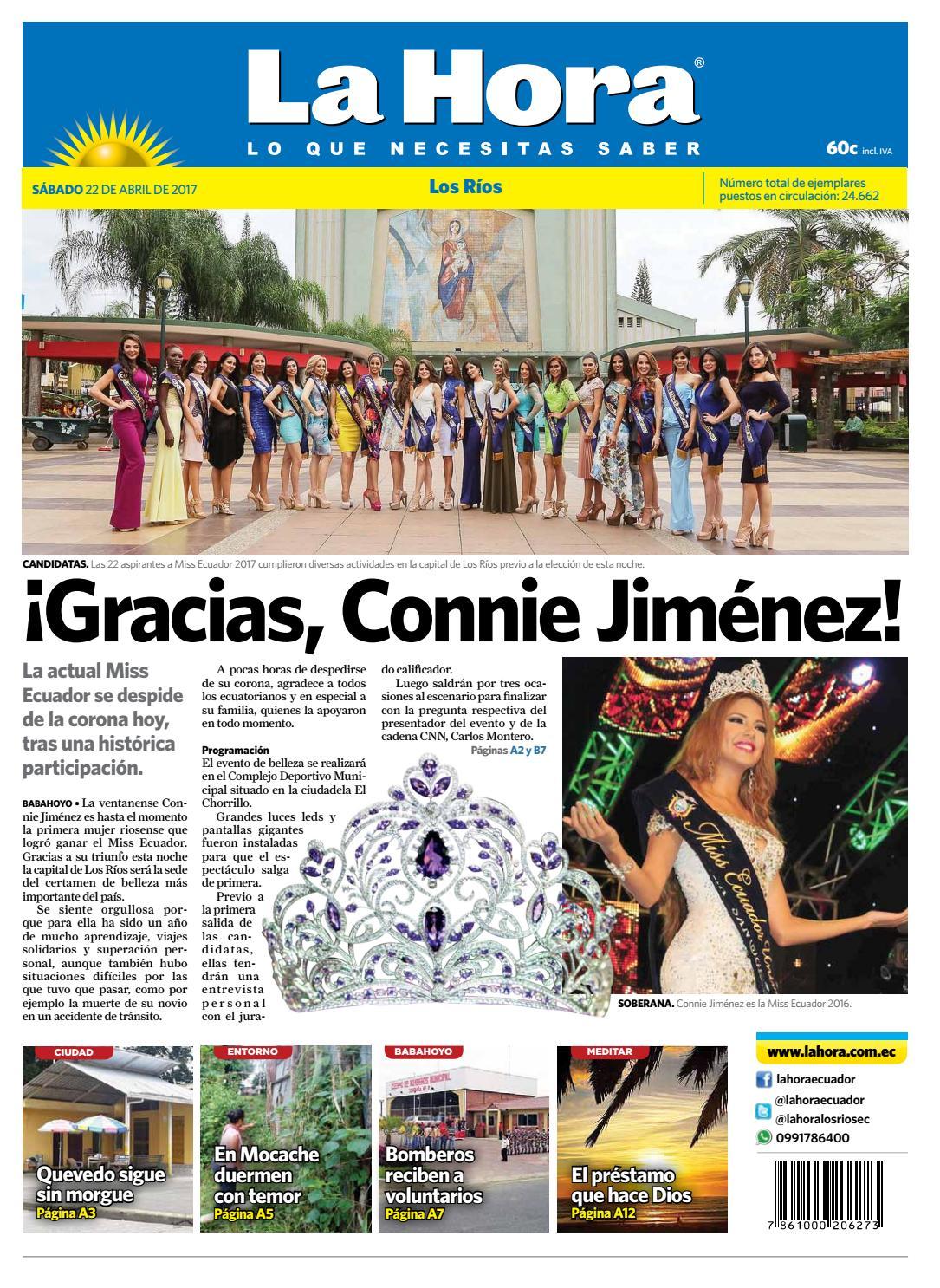 Los ríos 22 de abril del 2017 by Diario La Hora Ecuador - issuu
