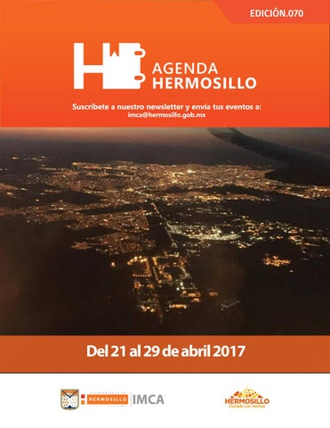 "Cover of ""Agenda Hermosillo 21 abril 2017"""