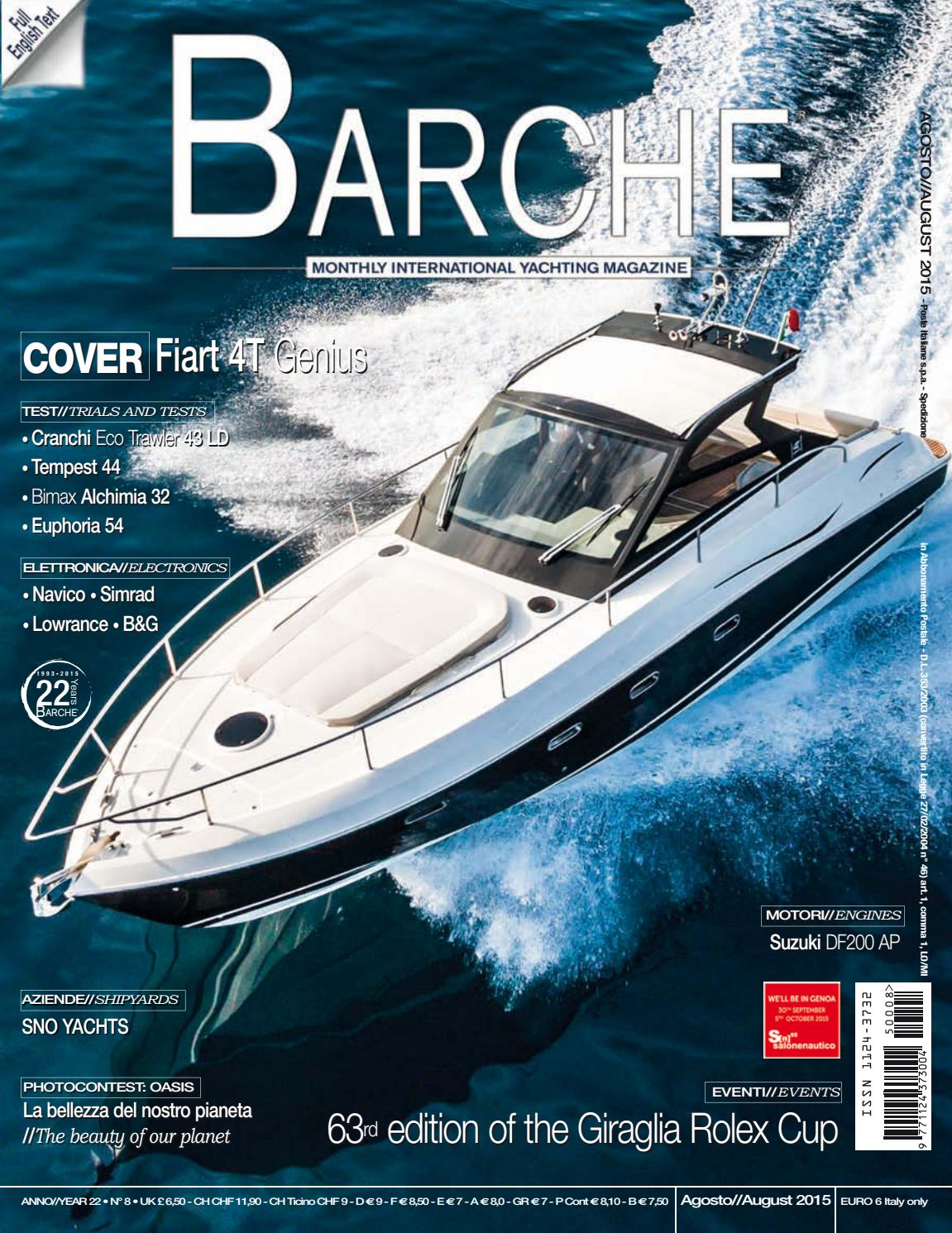 Barche AUGUST 2015 by INTERNATIONAL SEA PRESS SRL - BARCHE - issuu 6bbe677826d