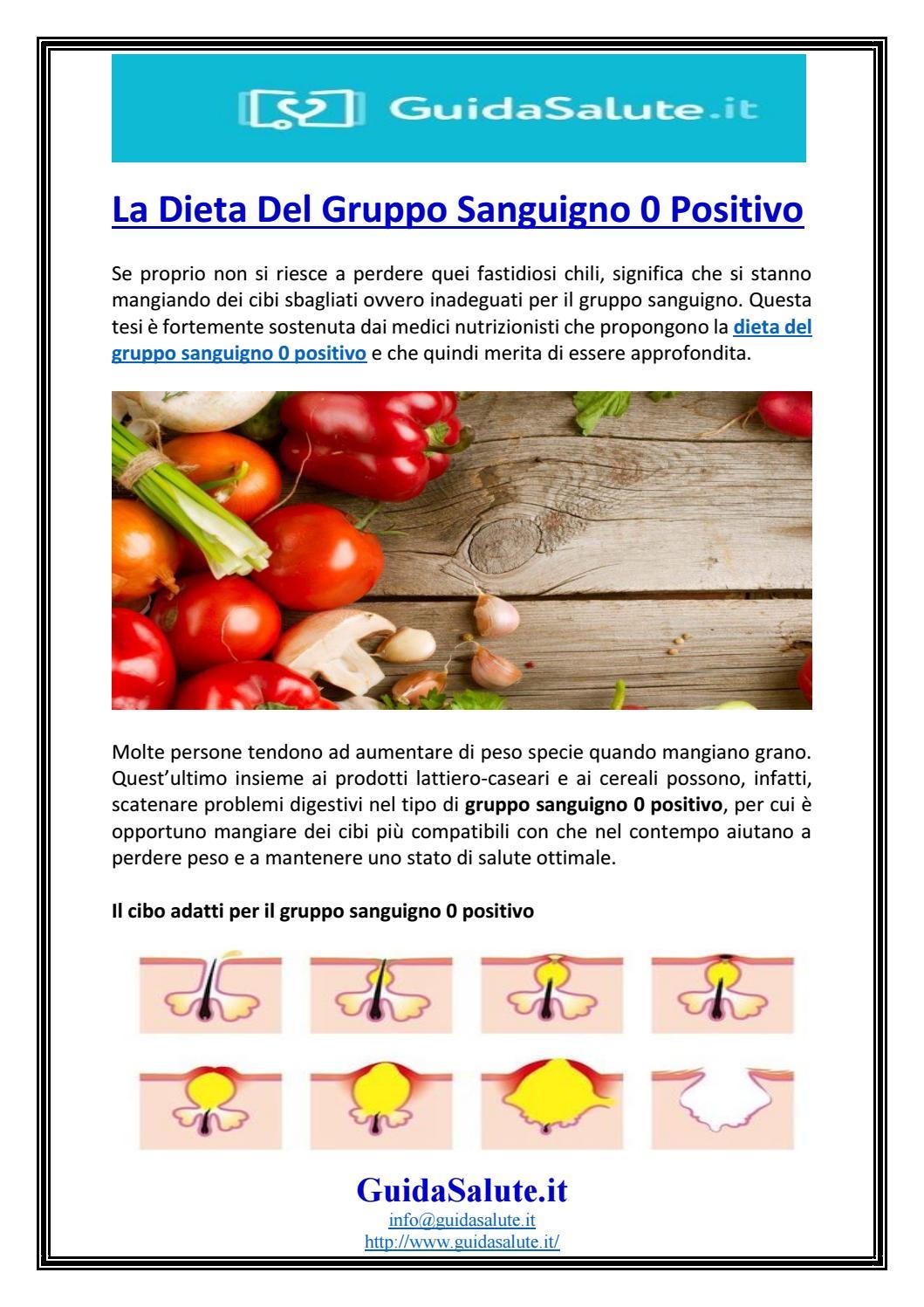 dieta per il gruppo sanguigno a negativo