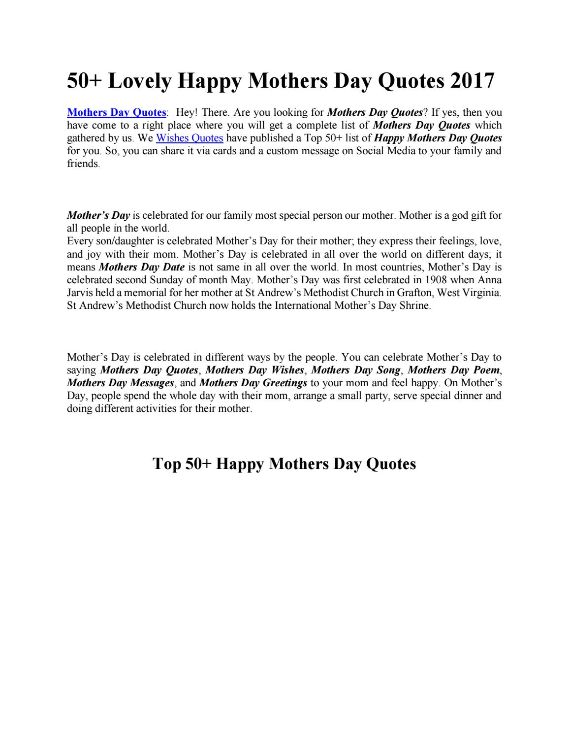 Mothersday by Rohan Patel - issuu