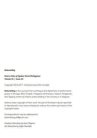 Bukambibig Poetry Folio Bukambibig Volume 1 — Quotes And Quotes