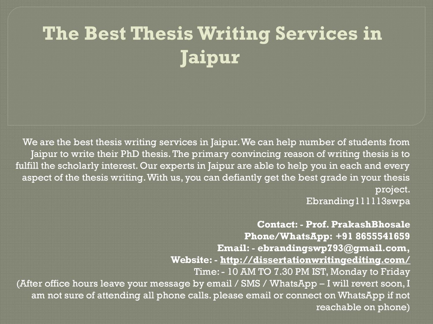 thesis writing in jaipur
