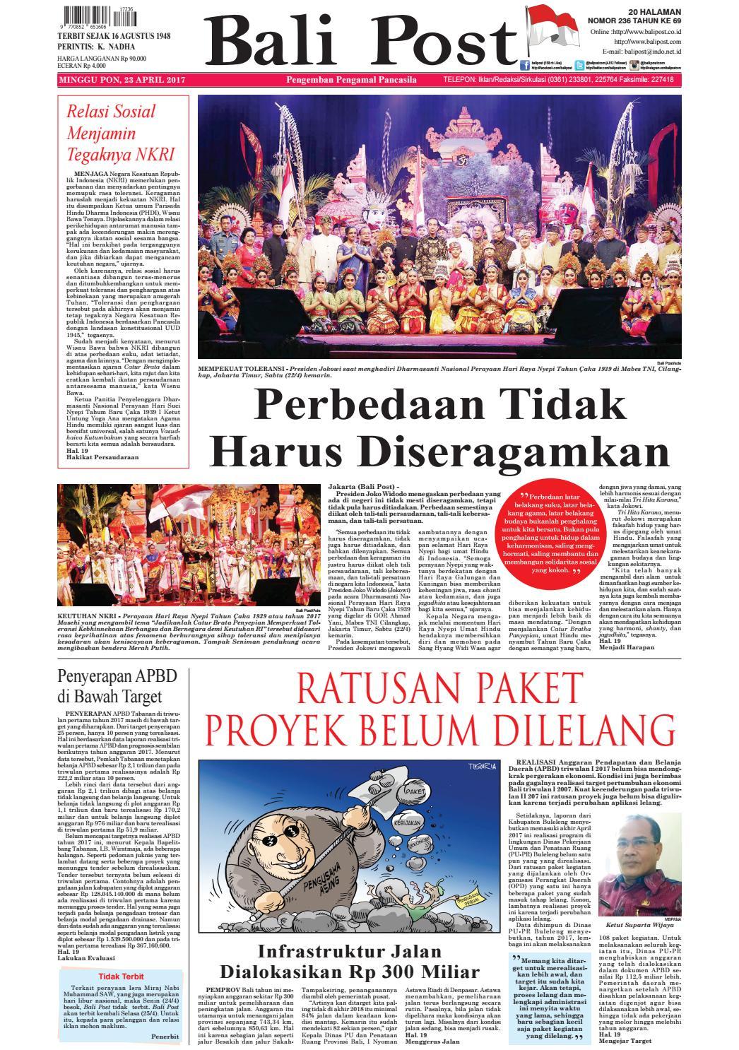Edisi 23 April 2017 Balipostcom By E Paper KMB Issuu