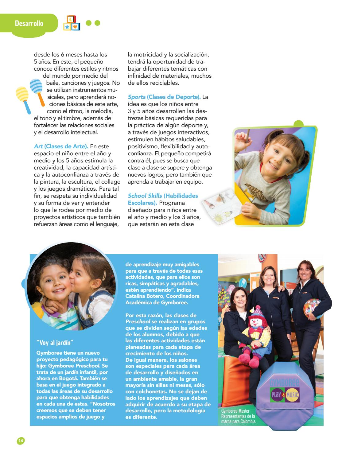 Revista Gymboree Contigo 01 Colombia By Ycp International Group Issuu
