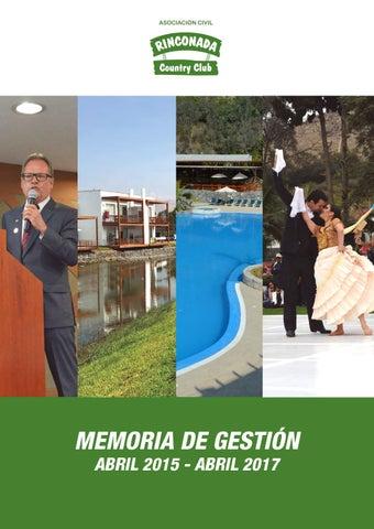 f27d3d7db Memoria de Gestión 2015 - 2017 by Rinconada Country Club - issuu