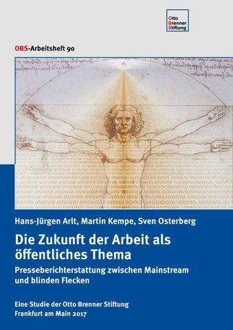 Die Zukunft der Arbeit als öffentliches Thema by Otto Brenner ...