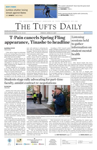 Friday, April 21, 2017 by Tufts Daily - issuu