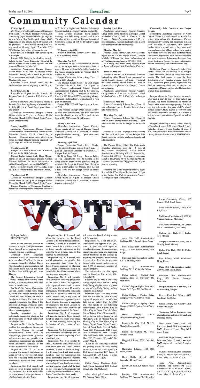 Prosper Times | 4 21 17 by Cedarbrook Media Group, LLC - issuu