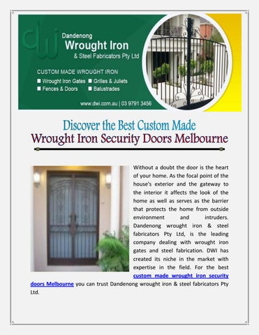 Page 1  sc 1 st  Issuu & Wrought iron balustrades melbourne by Dandenong Wrought Iron - issuu