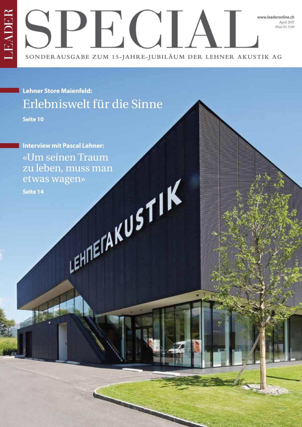 SPECIAL Lehner Akustik AG 2017 by LEADER - das Unternehmermagazin ...