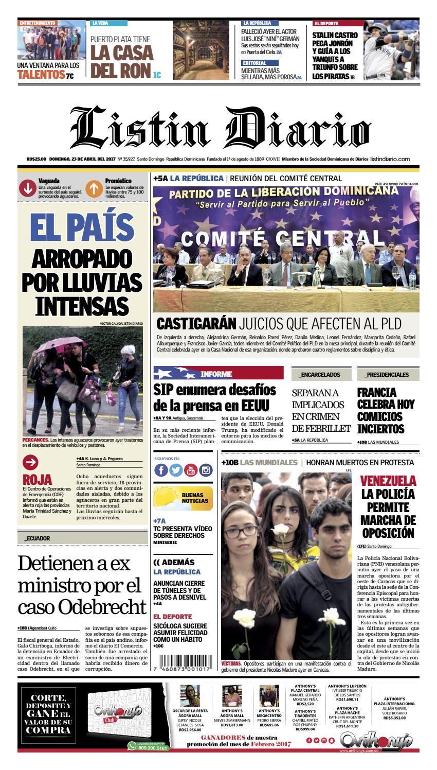 LD 23-04-2017 by Listín Diario - issuu