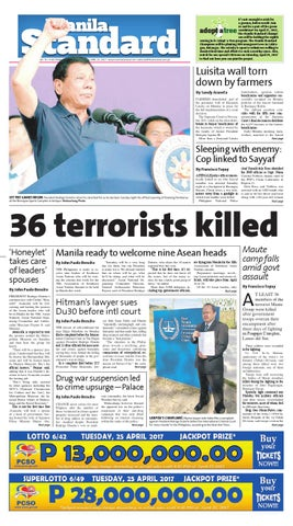 Manila Standard 2017 April 25 Tuesday By Manila Standard Issuu