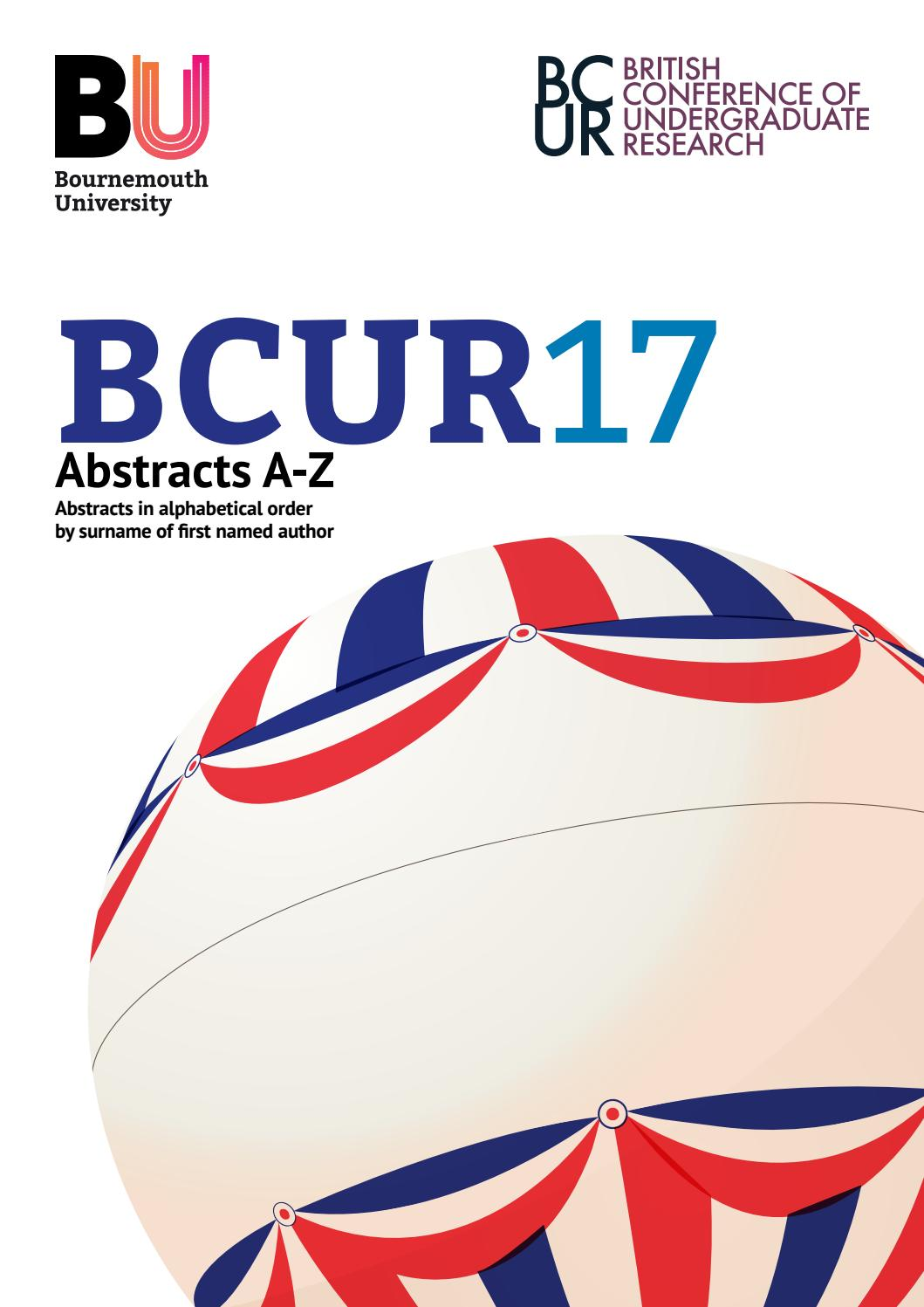 British Conference Undergraduate Research 2017 Abstracts A Z By Bagus Cling Wrap Refill 30 Cm X M Polyethylene Non Pvc Bournemouth University Issuu