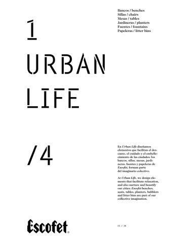 escofet urban life catalogus by samson urban elements bv