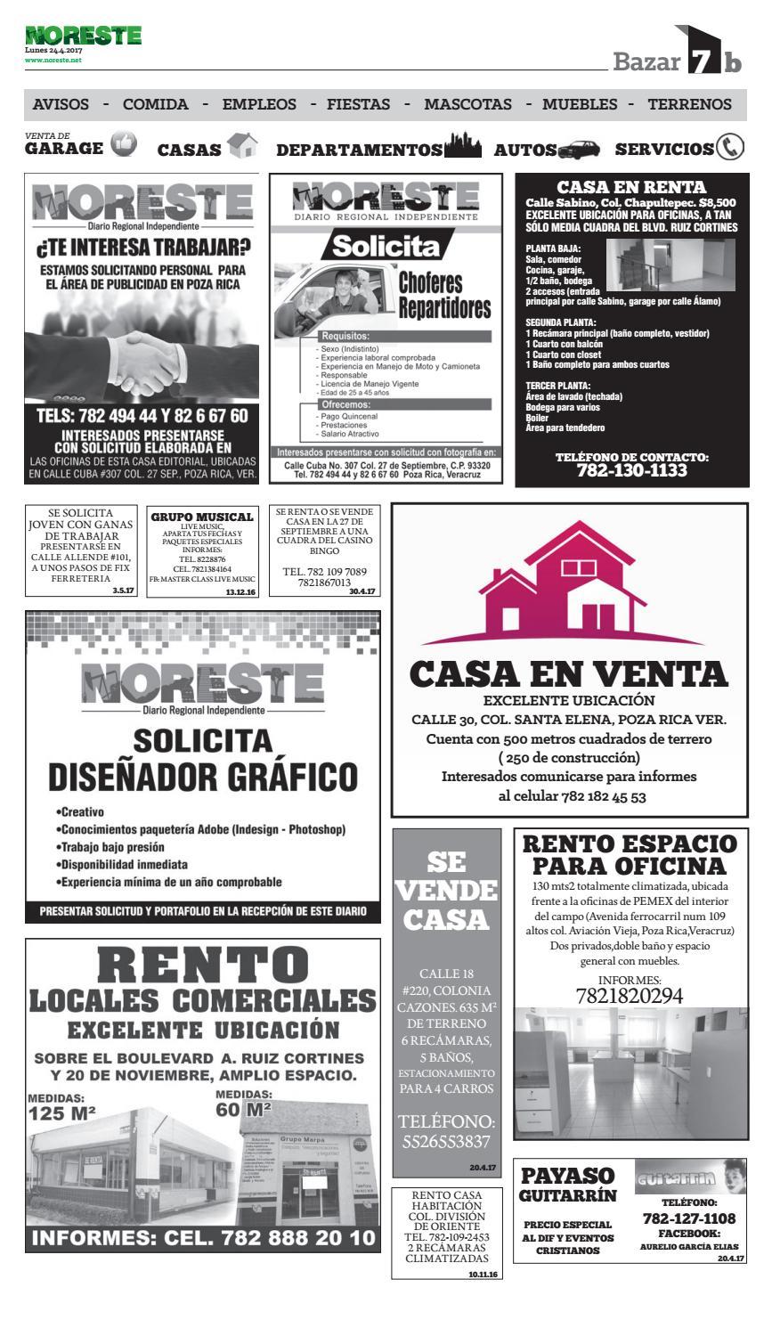 Versi N Impresa 24 De Abril By Noreste Diario Regional  # Muebles Poza Rica Veracruz