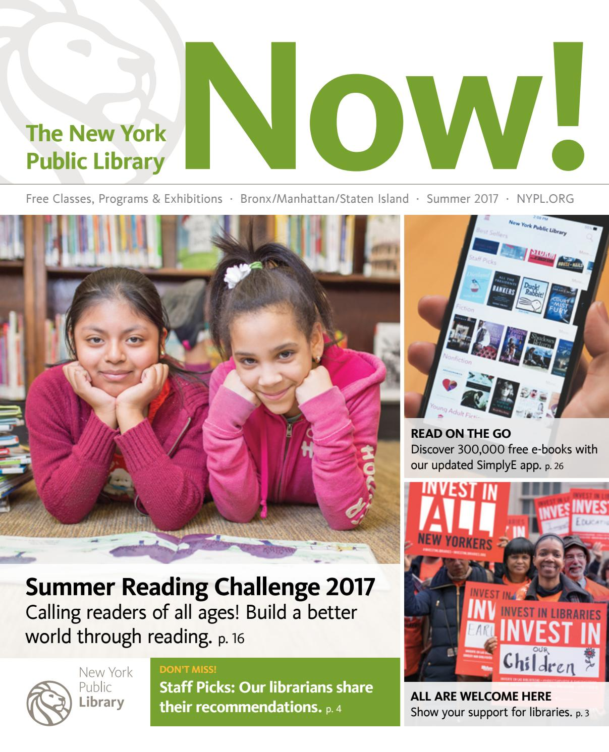 The New York Public Library Now! Summer 2017 by The New York
