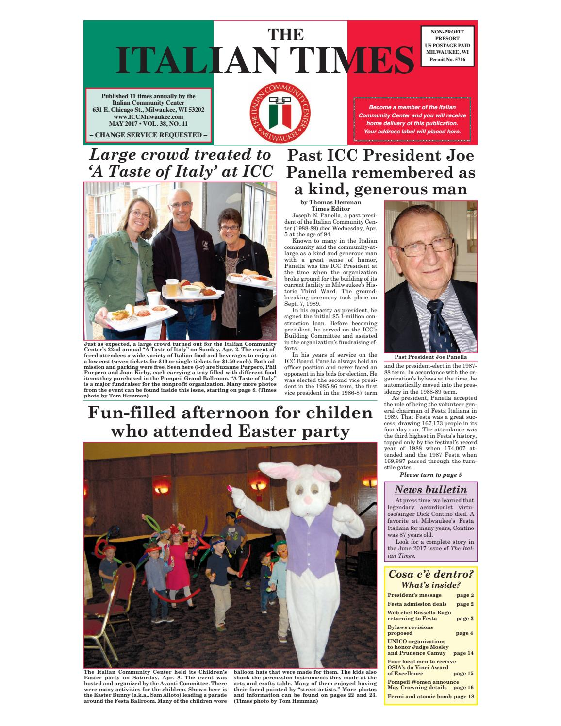 84a3a19d77ee May 2017 online by Italian Community Center - issuu