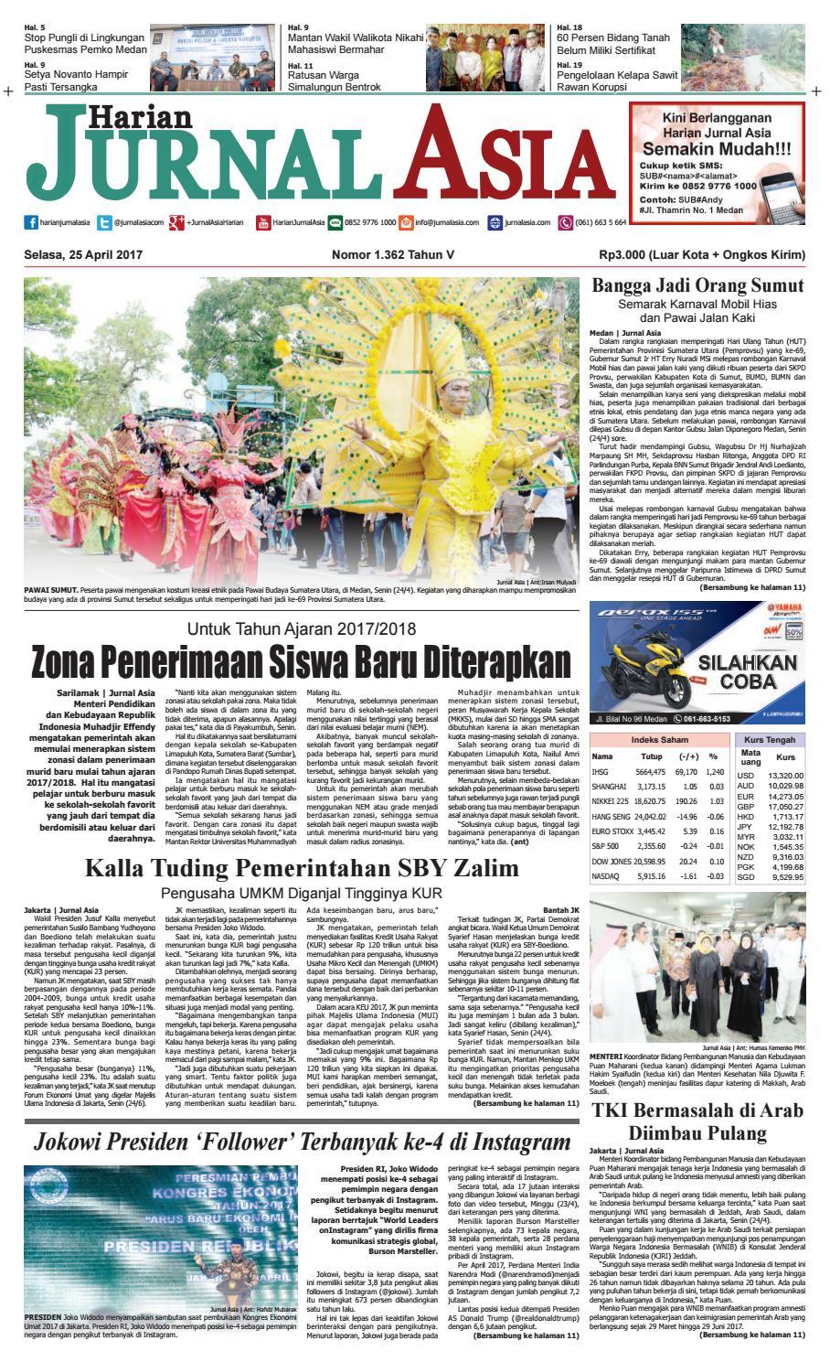 Harian Jurnal Asia Edisi Selasa 25 April 2017 By Produk Ukm Bumn Box Hantaran Pengantin Bio Art Medan Issuu