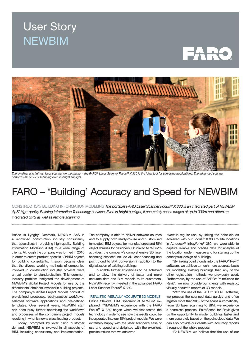 NEWBIM - FARO 3D laser scanning by NEWBIM - issuu