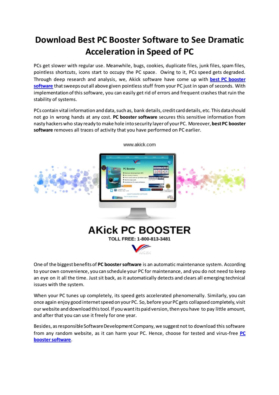 Download Best PC Booster Software - Akick by AKick software - issuu