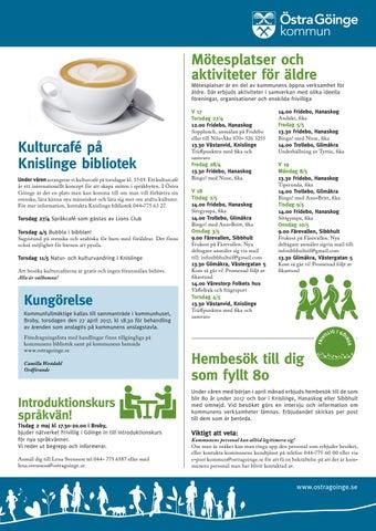 Allt om goinge by Allt om Osby / Allt om Ginge - issuu