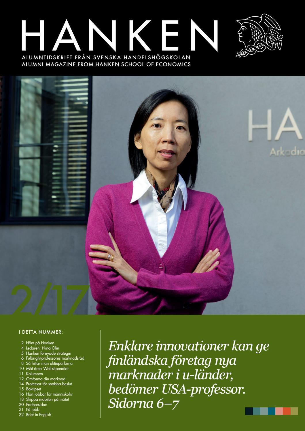 Hanken #2/2017 by Hanken School of Economics - Issuu
