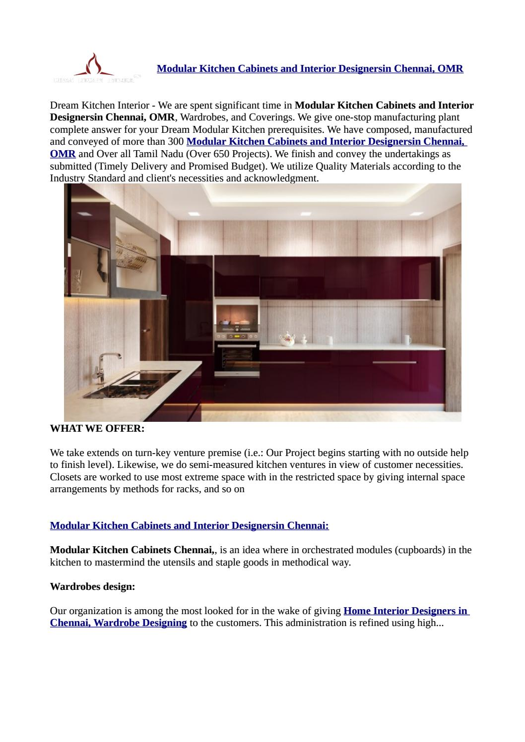 Modular Kitchen Cabinets And Interior Designersin Chennai Omr By Justseemobileapp Issuu