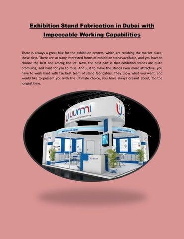 Exhibition Stand Fabricators In Dubai : Exhibition stand fabrication in dubai with impeccable working